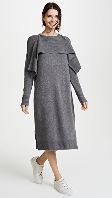 JENNY PARK Drane Scarf Neck Midi Dress