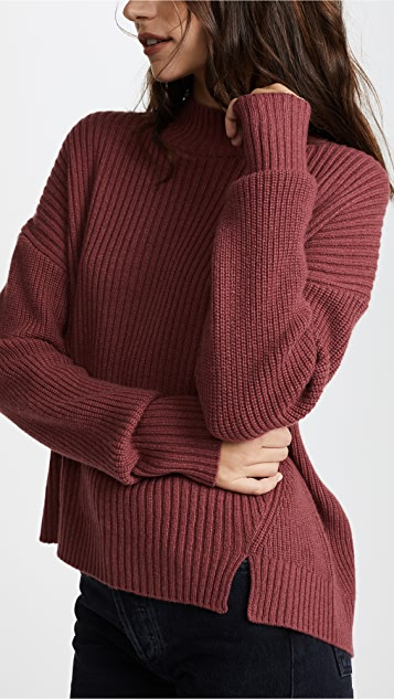 JENNY PARK Eren Cashmere Pullover Sweater