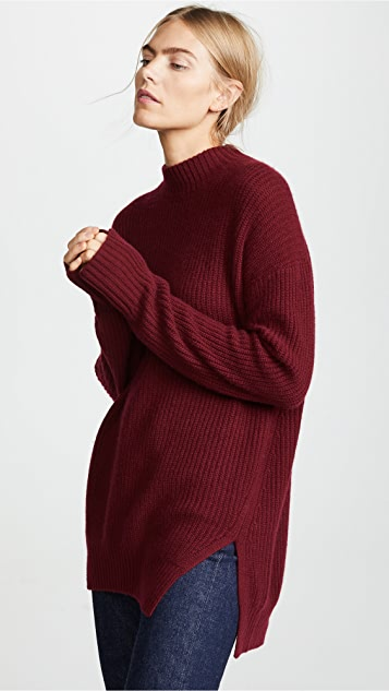 JENNY PARK Mendel Cashmere Ribbed Pullover