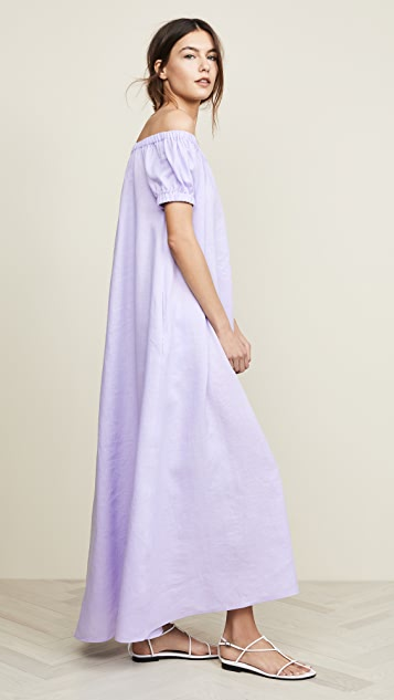 JENNY PARK Serenity Off Shoulder Maxi Dress