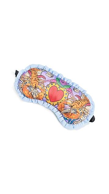Jessica Russell Flint Lucky Lobster Silk Sleep Mask