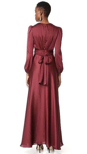 Jill Jill Stuart V Neck Gown
