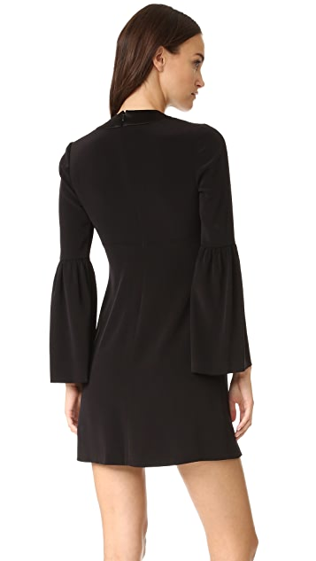 Jill Jill Stuart Deep V Bell Sleeve Dress