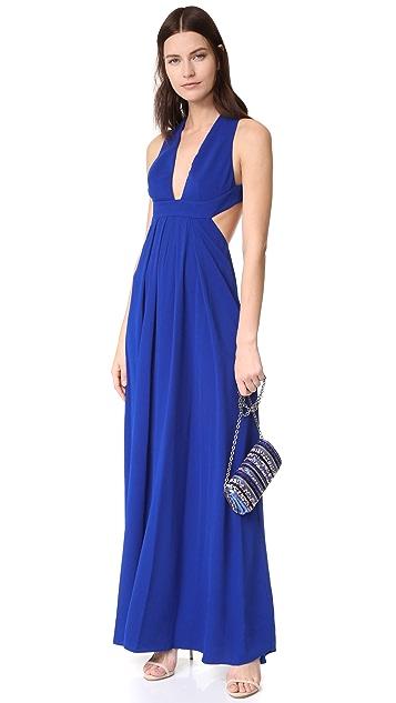 Jill Jill Stuart Вечернее платье с глубоким V-образным вырезом