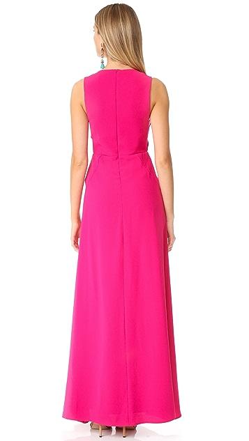 Jill Jill Stuart Cutout V Neck Gown