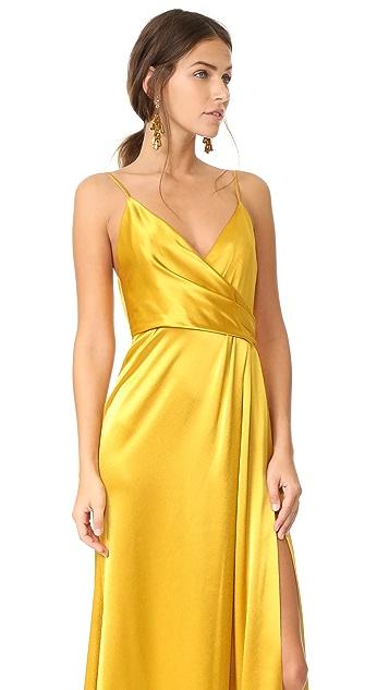 Jill Jill Stuart Wrap Satin Dress
