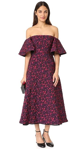 Jill Jill Stuart Off the Shoulder Jacquard Gown