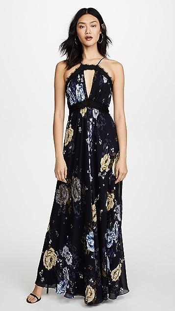 Jill Jill Stuart Keyhole Floral Gown