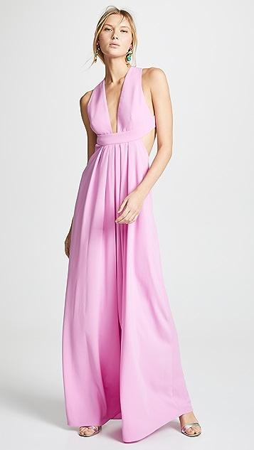 Jill Jill Stuart Deep V Neck Gown