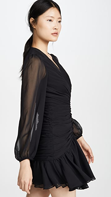 Jill Jill Stuart Ruched V Neck Dress