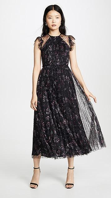 Jill Jill Stuart Pleated Floral Dress