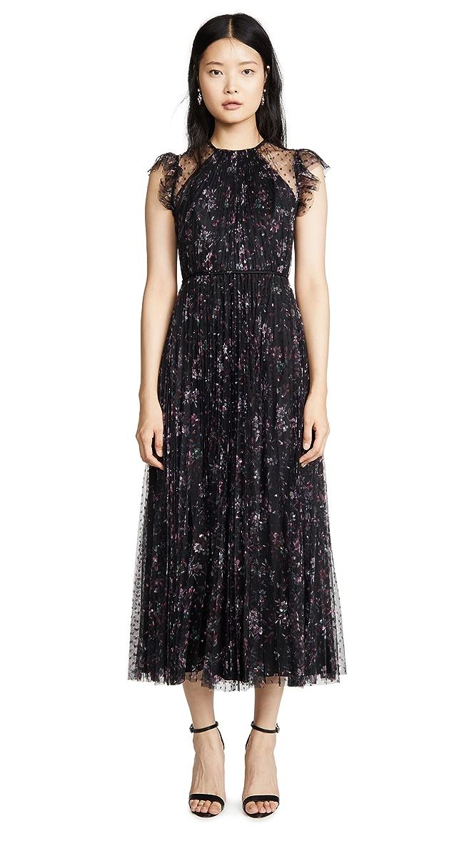 Pleated Floral Dress by Jill Jill Stuart