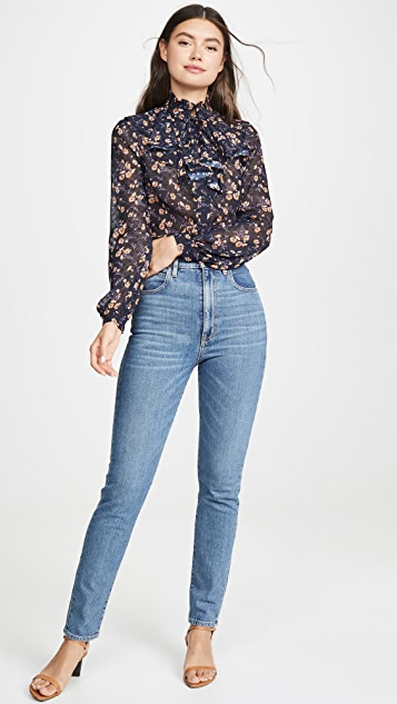 Jill Jill Stuart Ruffle High Neck Blouse