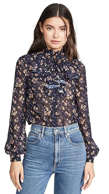 Jill Jill Stuart 荷叶边高领女式衬衫