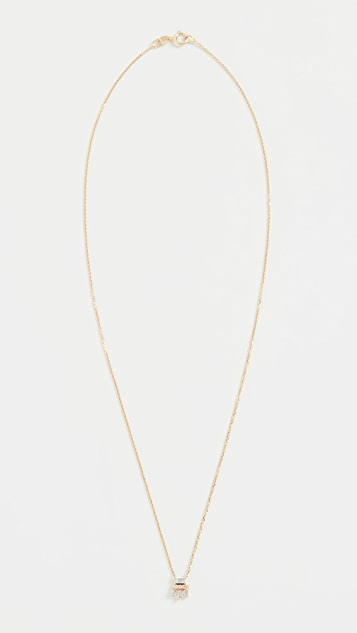 Jennie Kwon 设计 14k 长方形钻石蕾丝项链