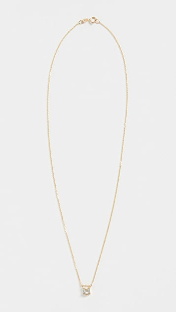 Jennie Kwon Designs 14k Diamond Baguette Step Necklace