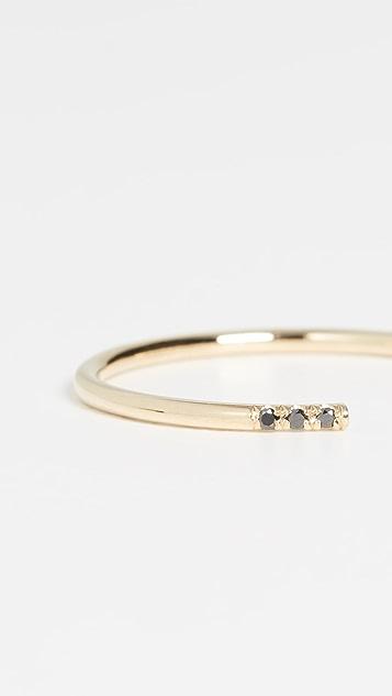 Jennie Kwon Designs 14k Black Equilibrium Cuff Ring