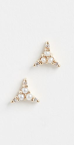 Jennie Kwon Designs - 14K 珍珠钻石三件套耳钉