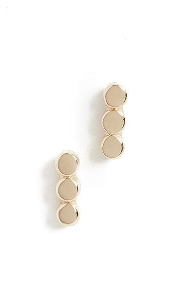 Jennie Kwon Designs 14k 3 圆点耳钉
