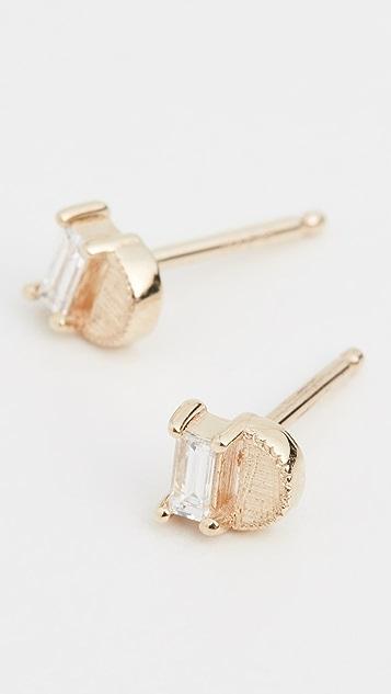 Jennie Kwon Designs 14k 长方形半月耳钉