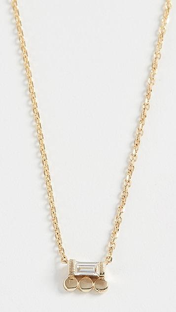 Jennie Kwon Designs 14k Baguette 3 Dot Necklace