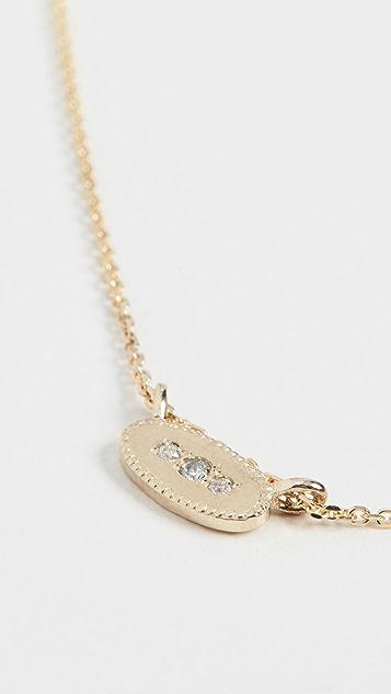 Jennie Kwon Designs Колье из 14-каратного золота с овальными бриллиантами и зеркальной отделкой