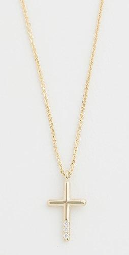 Jennie Kwon Designs - 14K 钻石十字架项链
