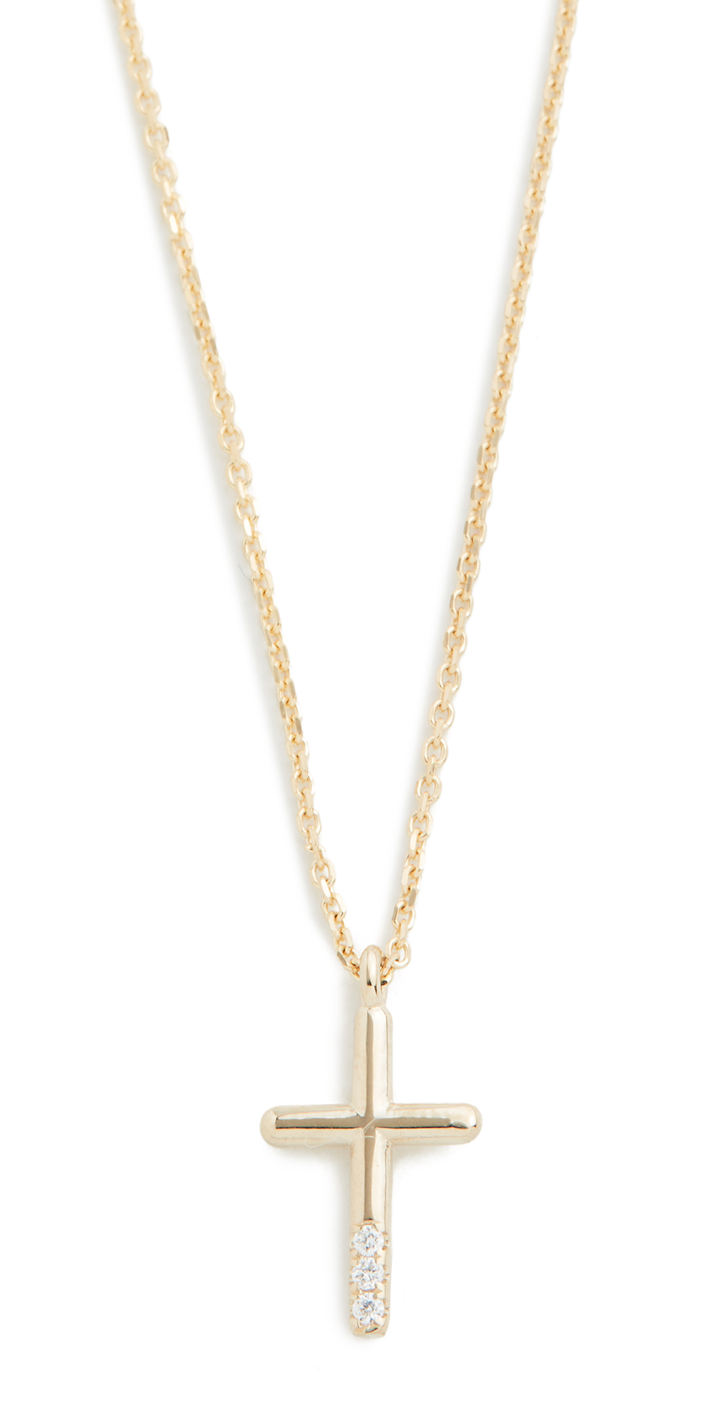 14k Diamond Cross Necklace