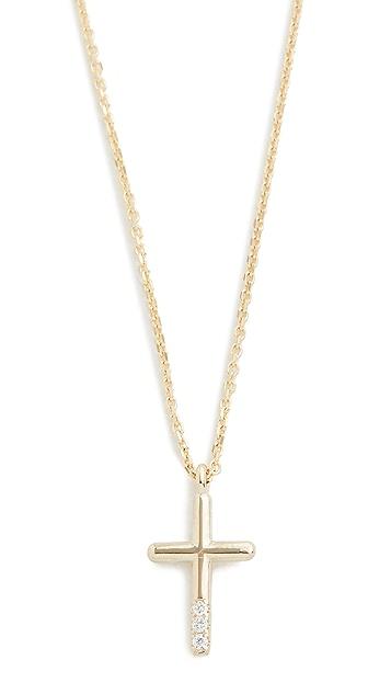 Jennie Kwon Designs 14k Diamond Cross Necklace