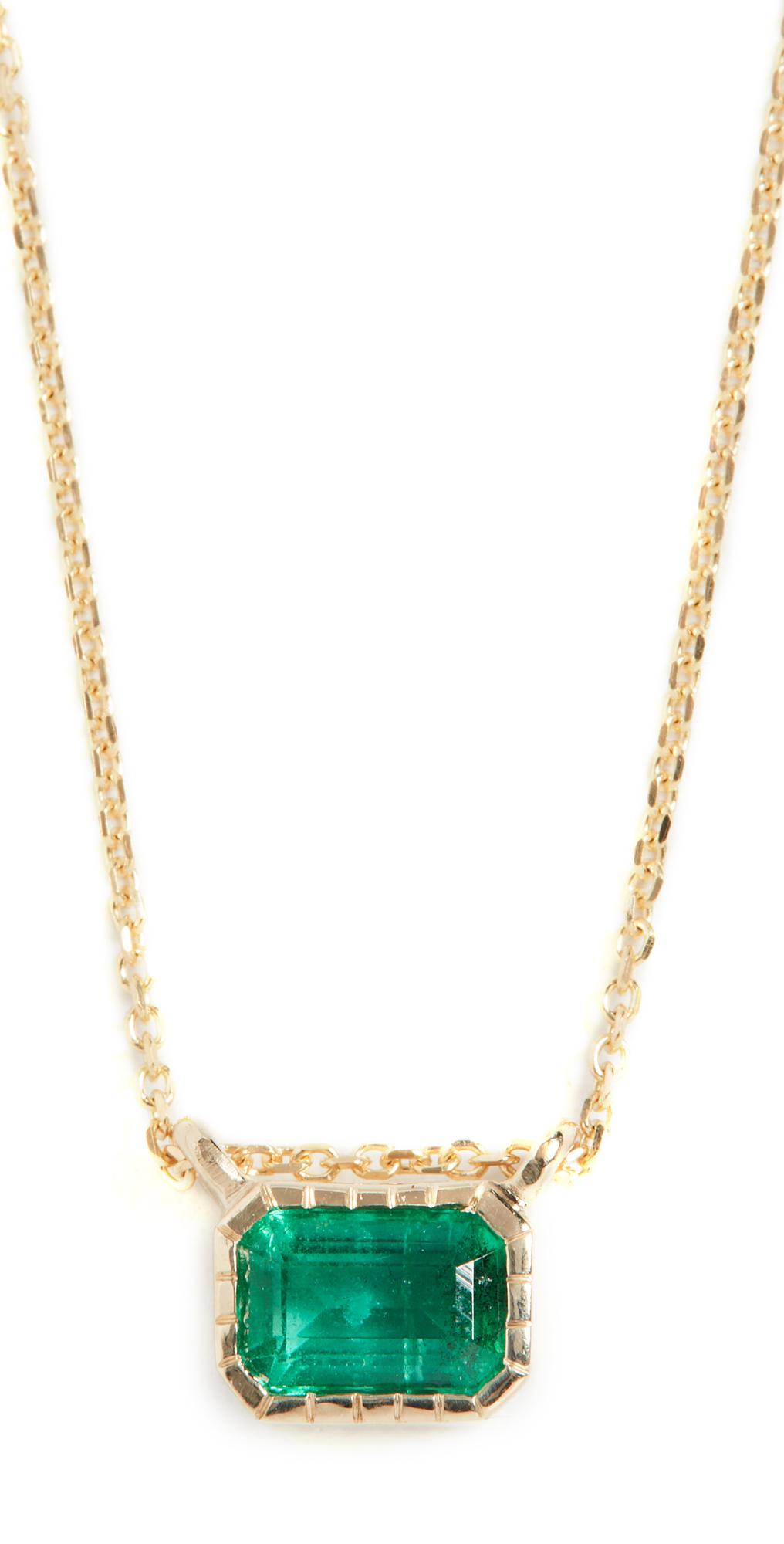 14k Emerald Lexie Necklace