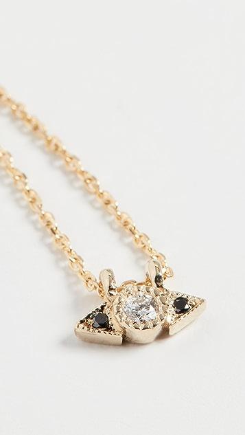 Jennie Kwon Designs 14k 钻石盾形项链