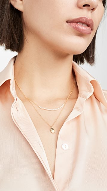 Jennie Kwon Designs 14k 椭圆形 Milli 项链