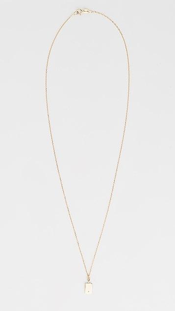 Jennie Kwon 设计 14k 方形钻石镜面吊坠项链