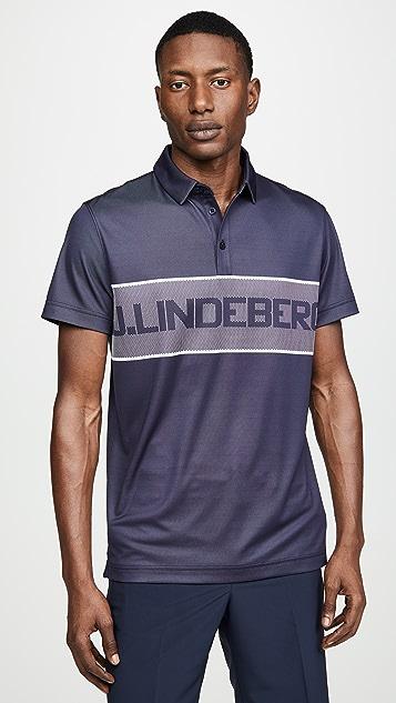 J Lindeberg Jacquard Polo