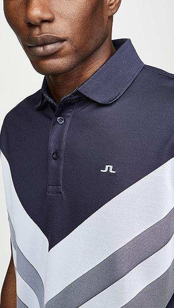 J Lindeberg Ace Reg Fit Jacquard Polo