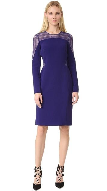 J. Mendel Round Neck Long Sleeve Dress