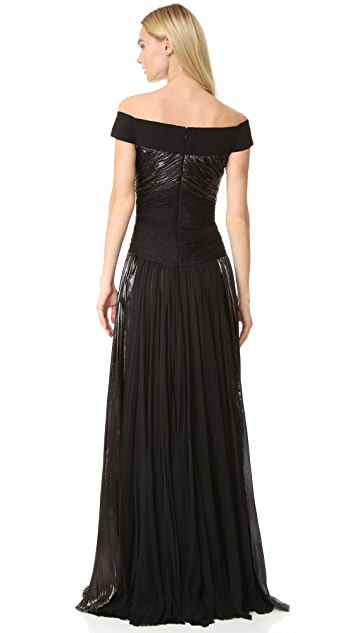 J. Mendel Off the Shoulder Gown