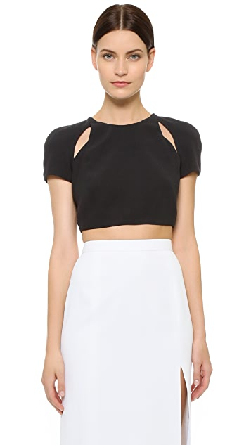 J. Mendel Cutout Crop Top