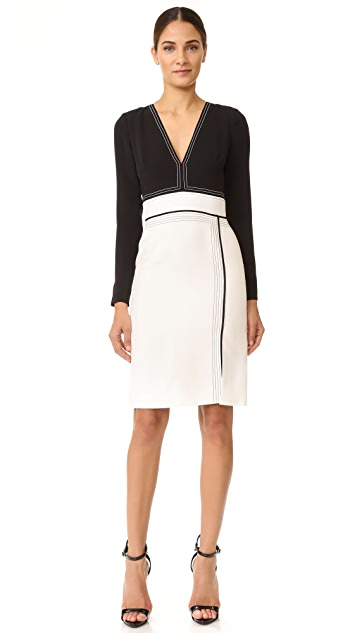 J. Mendel Seamed Cocktail Dress