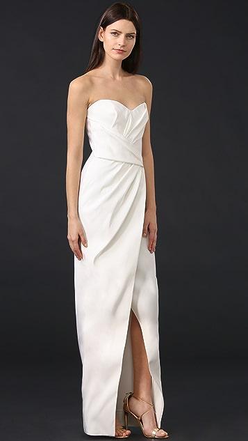 J. Mendel Charlotte Draped Bustier Gown