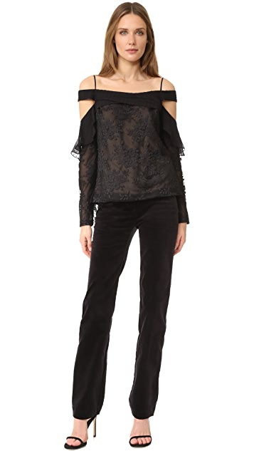 J. Mendel Draped Blouse