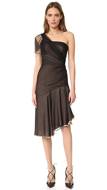 J. Mendel One Shoulder Asymmetrical Dress