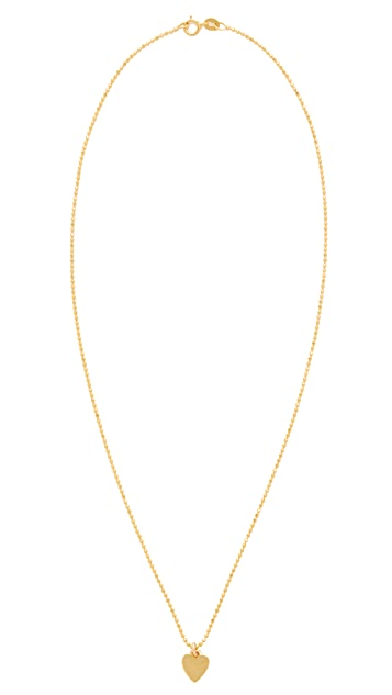 Jennifer Meyer Jewelry 18k Gold Heart Necklace