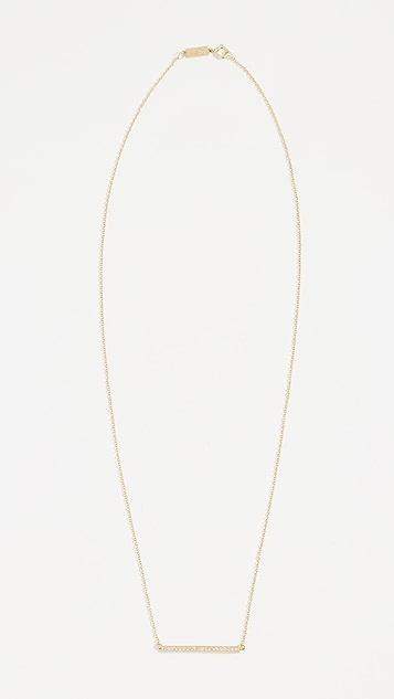 Jennifer Meyer Jewelry Колье Stick из 18-каратного золота с бриллиантом