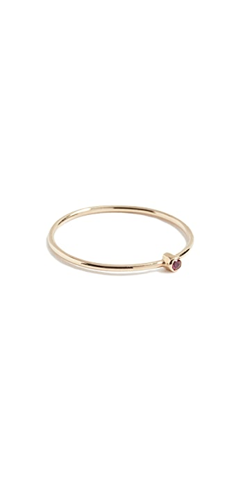 Jennifer Meyer Jewelry 18k Gold Thin Ruby Ring - Ruby
