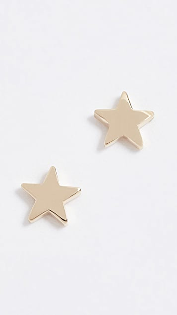 strand products stud star orange grande teeny a earring pointe sapphire stone and with