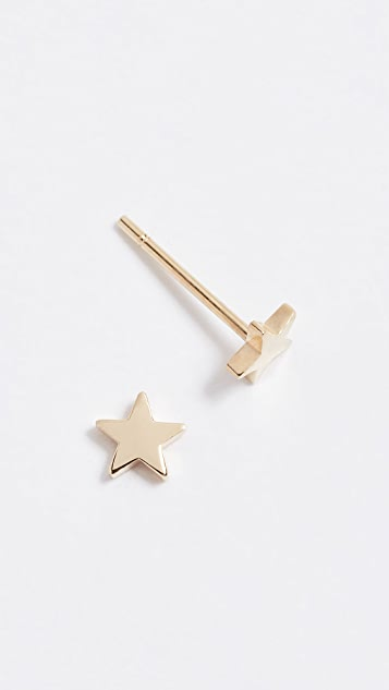Jennifer Meyer Jewelry 18k Gold Mini Star Stud Earrings