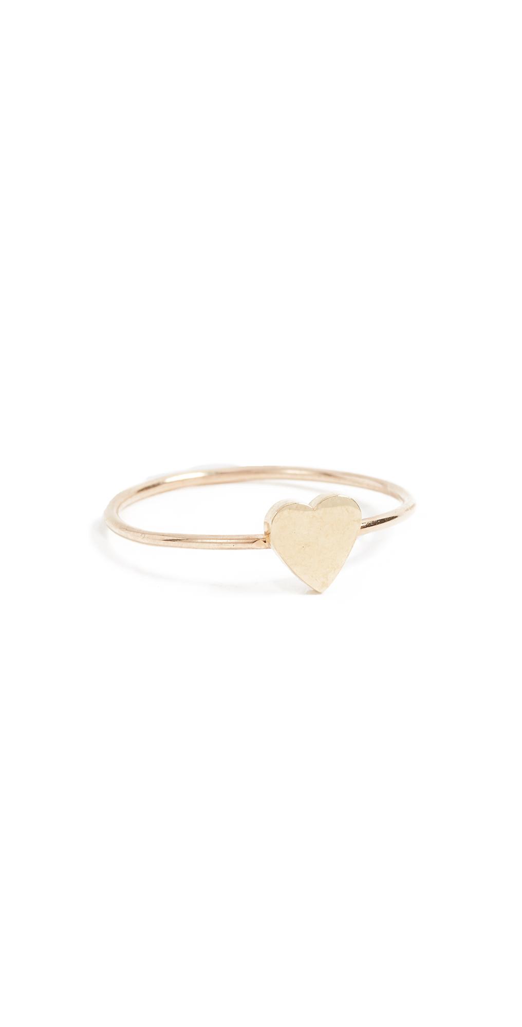 18k Gold Mini Heart Ring