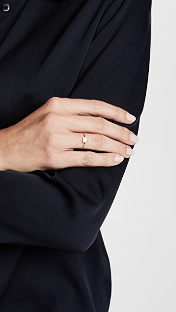 Jennifer Meyer Jewelry 18K 金迷你心形戒指