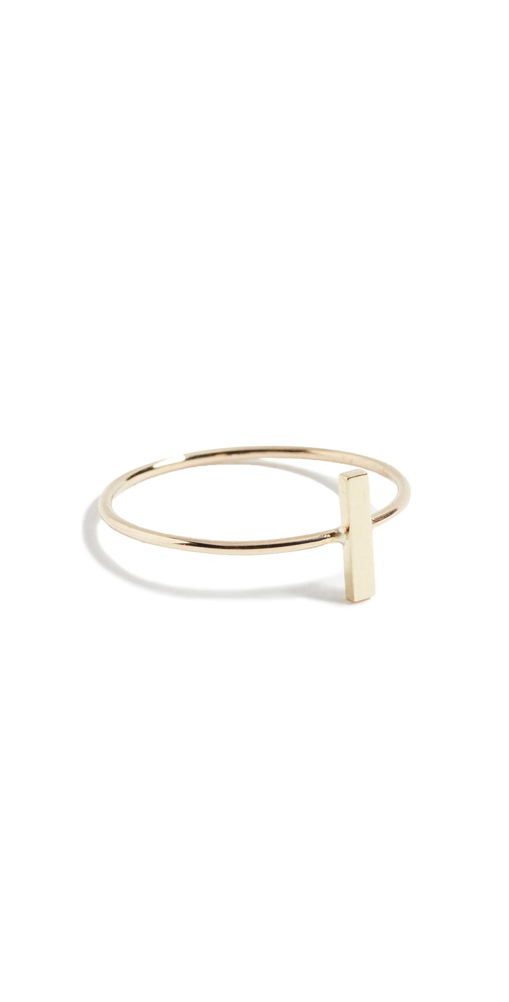 18k Gold Bar Ring